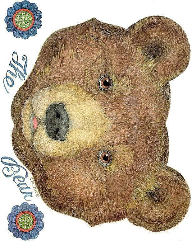 The mitten - The Bear (mask) Jan Brett: Book Mittens, Art ...