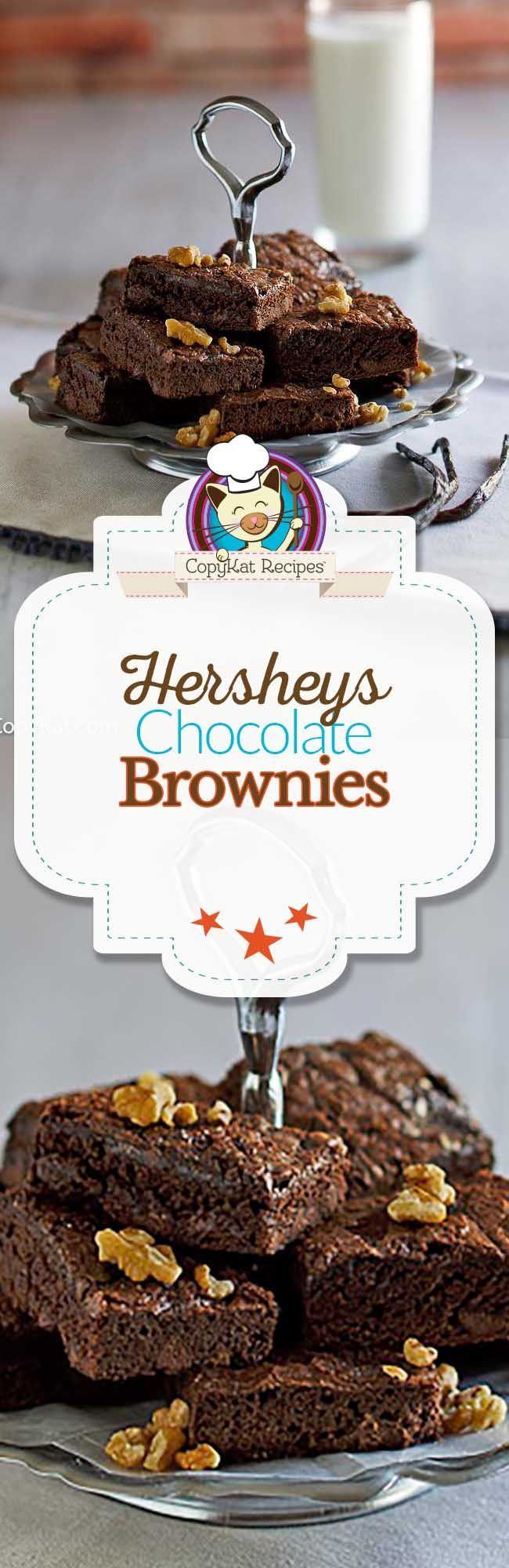 You can make Hershey chocolate brownies at home with our recipe. These are so easy to make, and you can't bet these homemade brownies.