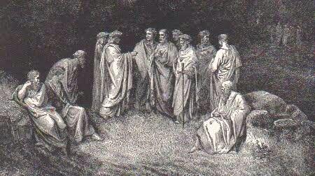 Primer círculo , es el Limbo donde las personas no fueron bautizadas.