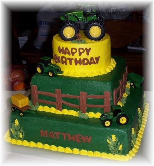 18 best John Deere cakes images on Pinterest Birthdays Hello