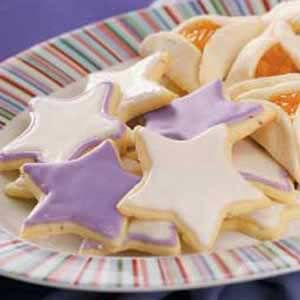 Glazed Anise Cookies Recipe -Years ago, my German neighbor made similar cookies and hung them on her Christmas tree for the neighbor kids to eat. I finally came up with my own recipe and have been very pleased with the results.