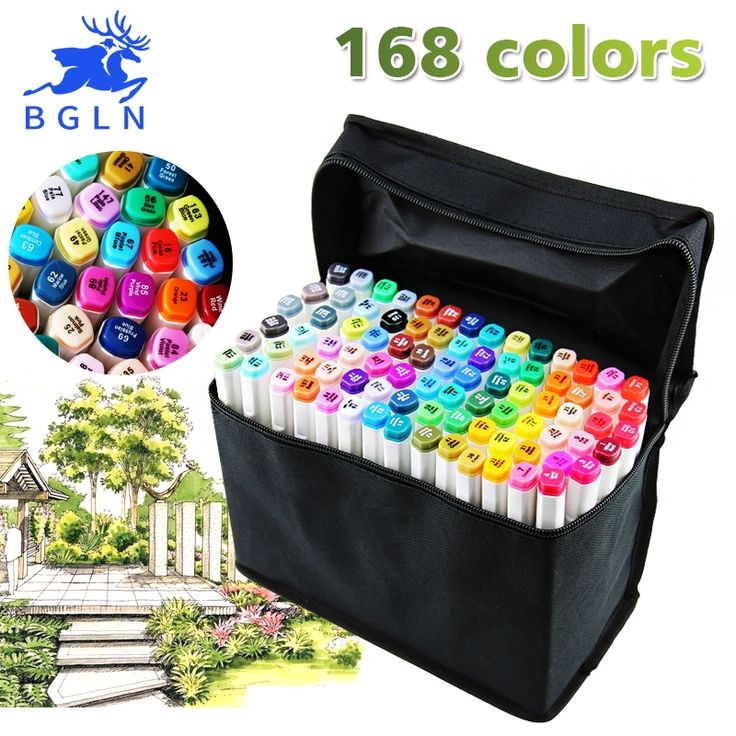 29.70$  Watch here - http://alitv8.shopchina.info/go.php?t=32689991277 - BGLN 30/40/60/80 Colors Set Artist Dual Head Sketch Copic Markers Set For School Drawing Sketch Marker Pen Design Supplies  #buychinaproducts
