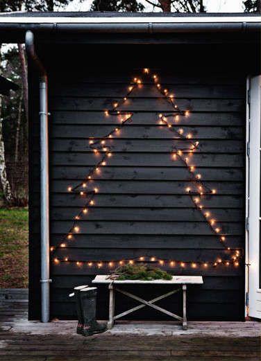 Kerstboom van kerstverlichting