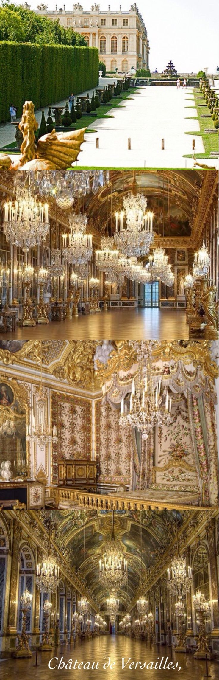 The Palace of Versailles, or simply Versailles, is a royal château in Versailles in the Île-de-France region of France. In French it is the Château de Versailles.