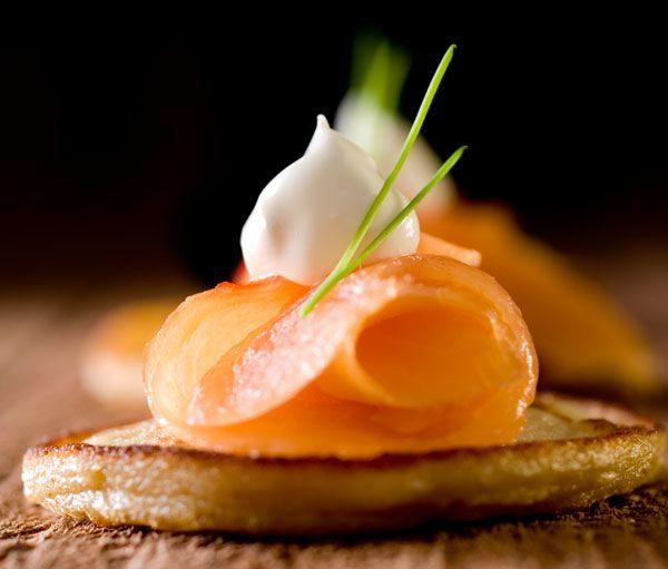 Saumon Labeyrie sur blinis #gastronomie #gastronomy