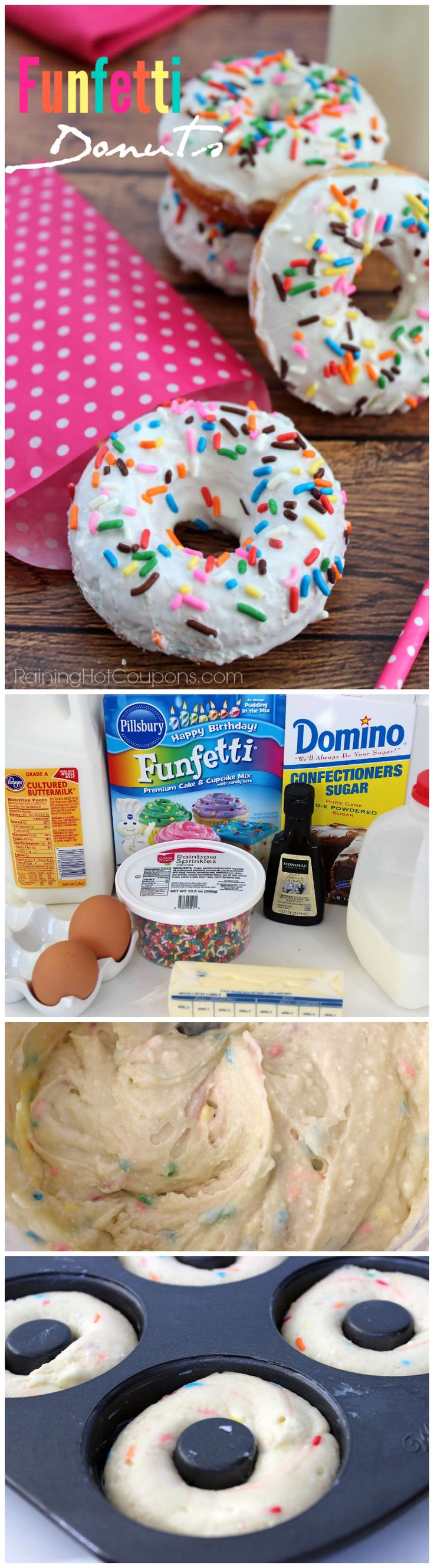 I know it's not cake pops but my God!Funfetti Donuts! I want some Funfetti now!