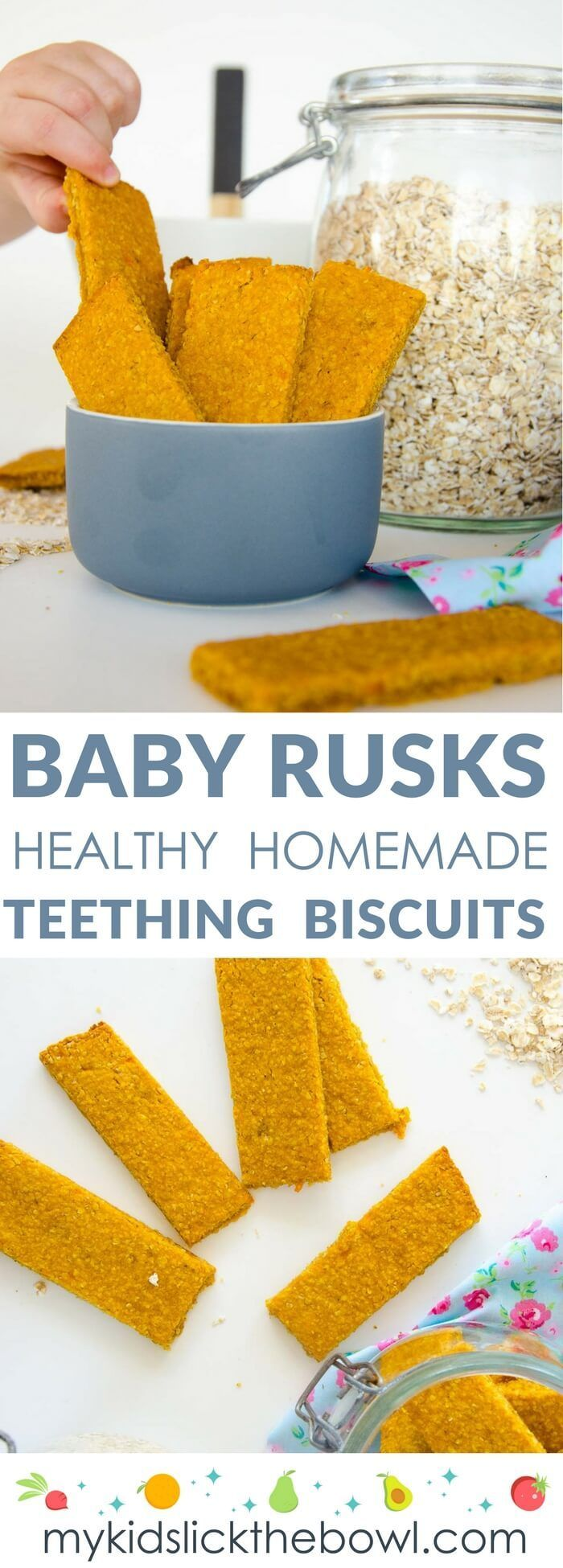 These homemade teething biscuits without the nasties, are easy to make from  sweet potato, oats, and chamomile
