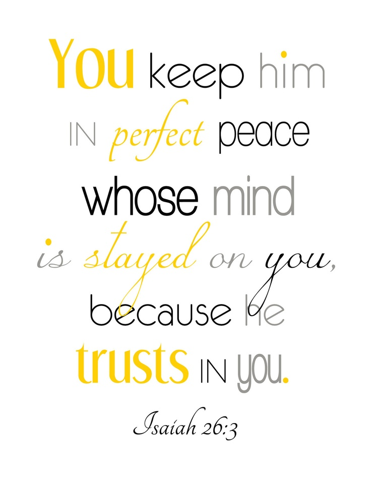Isaiah 26 3 Printable Typography Perfect Peace Scripture