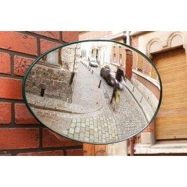 Miroir ovale sortie vehicule diamètre 56cm