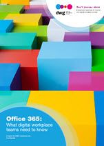 The Office 365 report covers business drivers and benefits, challenges and risks, opportunities and critical success factors, plus the capabilities of Office 365. It also looks at leading examples of practice from DSM and dormakaba. Free summary.