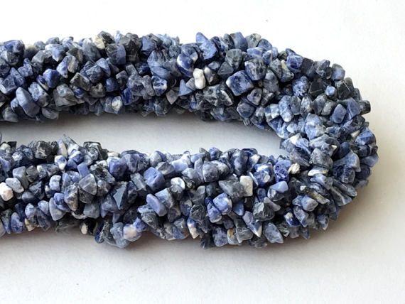 Sodalite Chip Beads Natural Sodalite Gemstone by gemsforjewels