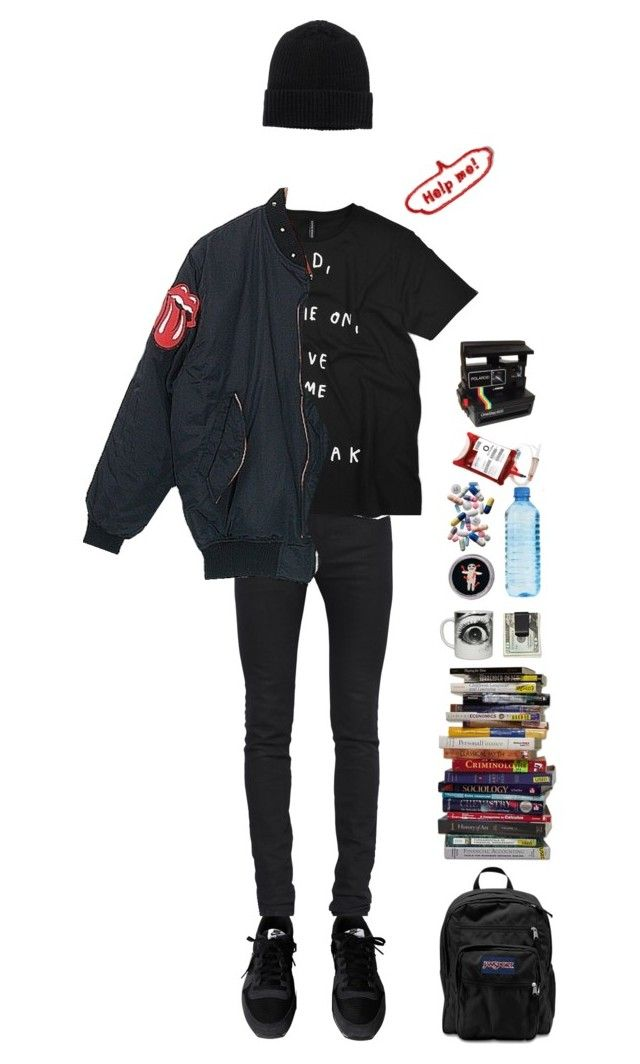 """""""heavy heavy days"""" by anxiyeti ❤ liked on Polyvore featuring NIKE, Yves Saint Laurent, Michael Williams, JanSport, Monki and Market"""