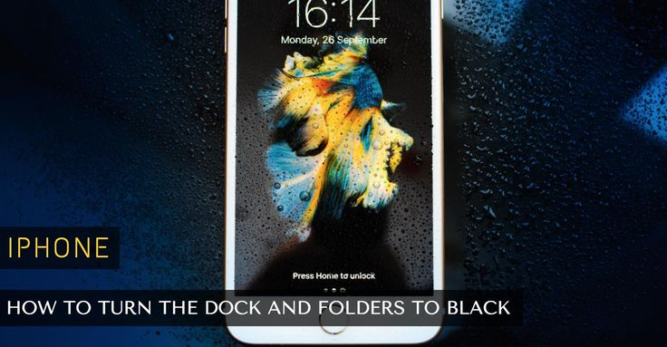How to Turn the Dock and Folders to Black on Your iPhone