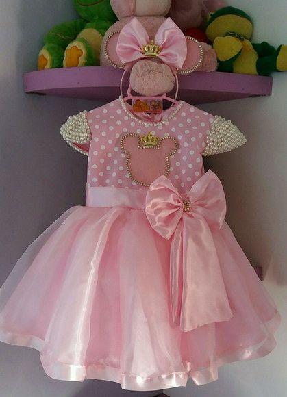 305925d9b6 Compre Vestido Infantil de Festa Minei Princesa Rosa no Elo7 por R  180