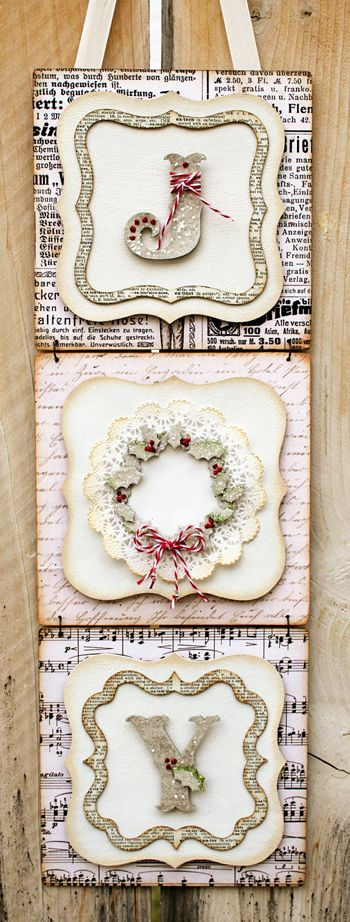 Joy Banner - recreate using Cricut Art Philosophy Cartridge 7 @Close To My Heart mix & mingle album