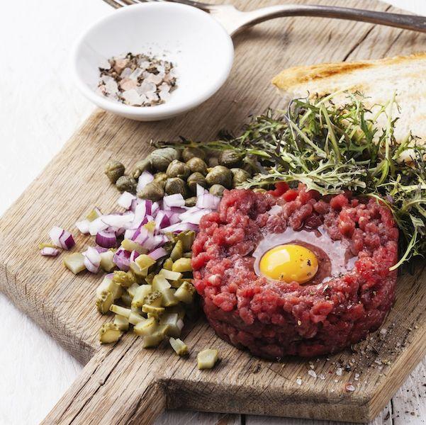 Steak tartare, an unforgettable appetizer worthy of savoring in Burgundy.