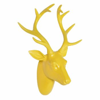 This gorgeous small deer head is made of sturdy resin with an elegant white…