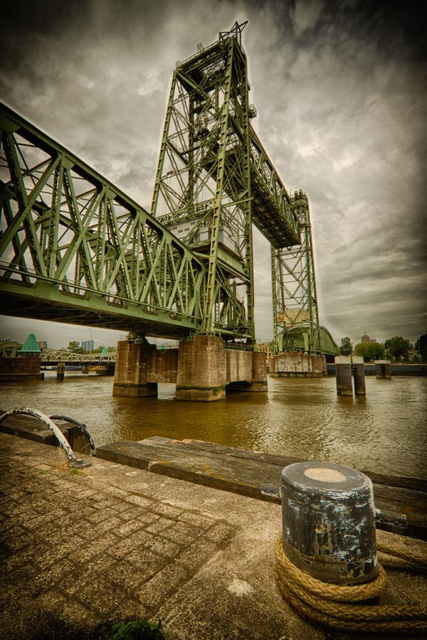 De Hef by Raymond van der Hoogt on 500px, old railway bridge, Rotterdam, the Netherlands