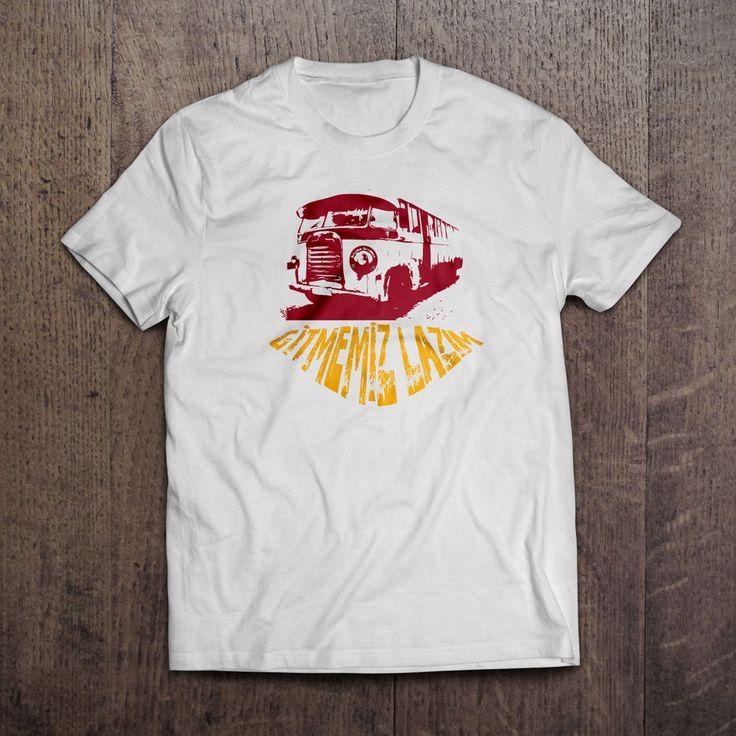 Beyaz kumaş üzerine dijital baskı Gitmemiz Lazım T-Shirt 29,99TL