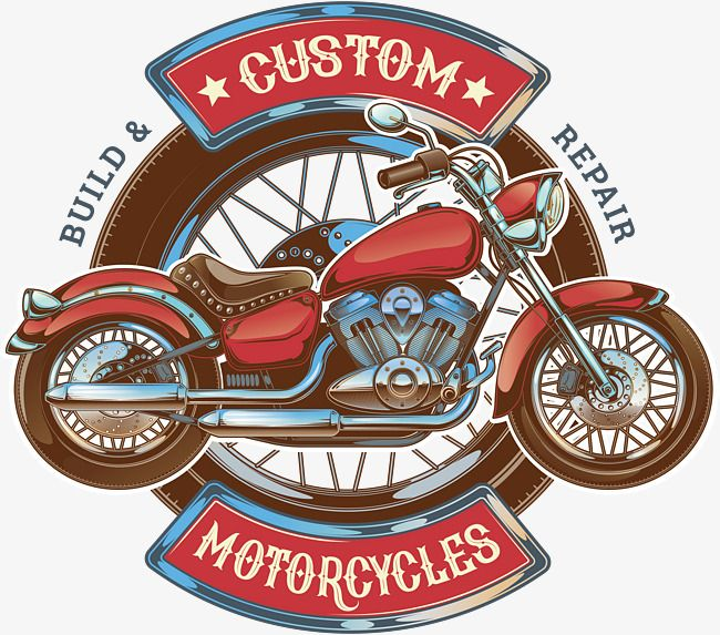 Red Retro Motorcycle Vector Png Motorola Motorcycle Png And