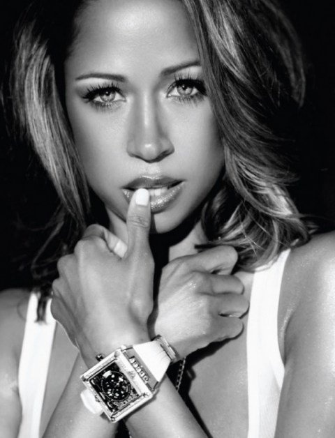 Stacey Dash she is black but she has blue eyes HOT