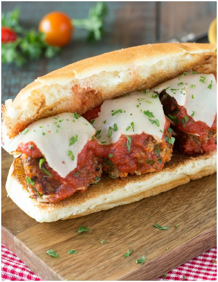 quinoa meatball sandwich