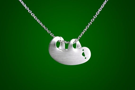 hahahaChristian Belle, Fashion, Sloths Necklaces, Stuff, Style, Baby Sloths, Jewelry, Happy Sloths, Things