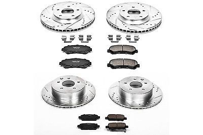 Disc Brake Pad and Rotor Kit Front Rear POWER STOP K5818 fits 08-13 Nissan Rogue