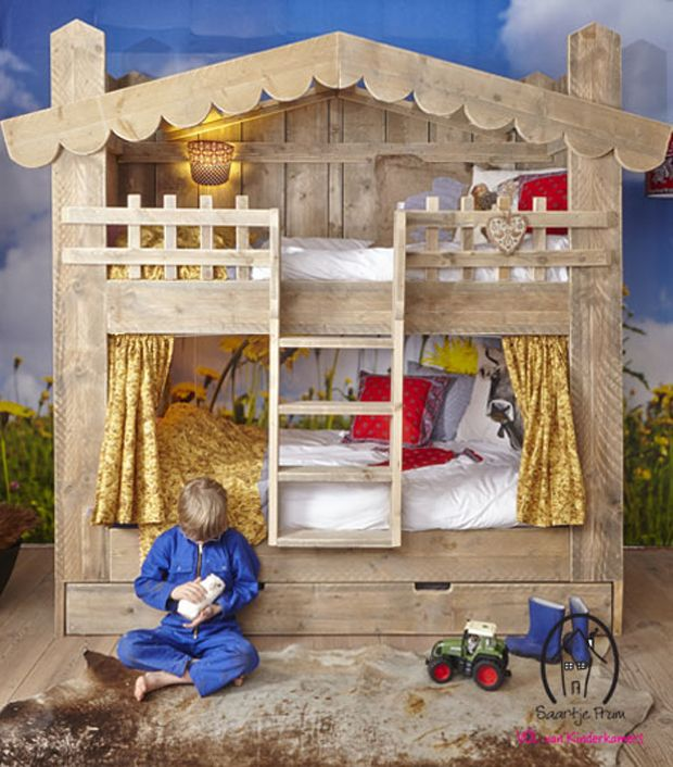 I'm so enamored of these beautiful children's beds from Saartje Prum out of the Netherlands. They also have wonderful lamps and decor items.