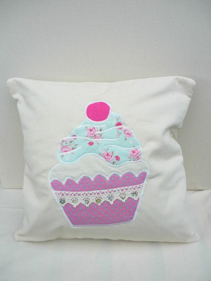 Handmade Shabby Chic Pillows : Handmade Cupcake Shabby Chic Pillow Scatter Cushion Glamping Spotty Polka Retro Hollyblues ...