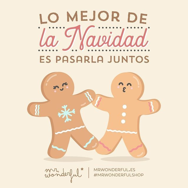 ¿Qué tal van esas sobremesas? The best thing about Christmas is spending it together. How are those long lingering lunches going? #mrwonderfulshop #quotes #christmas
