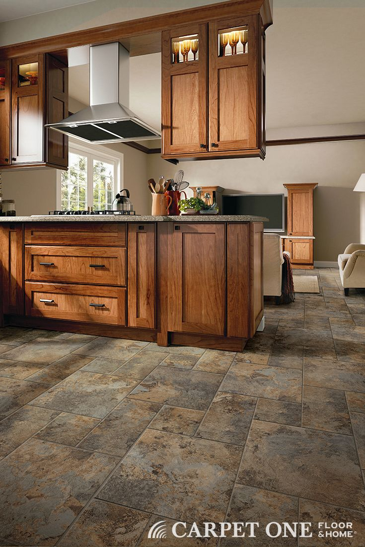 51 best vinyl plank and tile images on pinterest vinyl planks add color and texture to your kitchen with engineered stone flooring verstone from carpet baanklon Choice Image