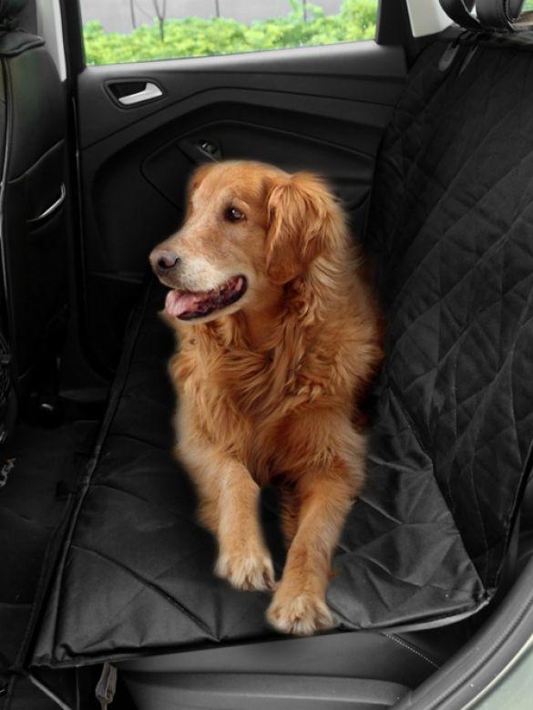 Homdox Waterproof Non Slip Pet Dog Car Rear Back Seat Cover Protector Black