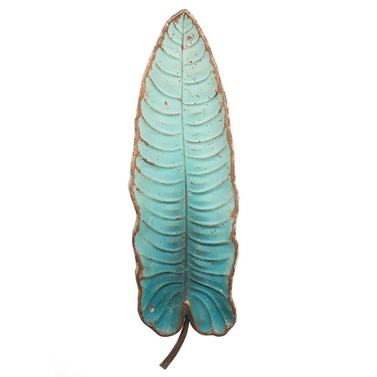 Blue Single Leaf Metal Wall Art Decor $129.95
