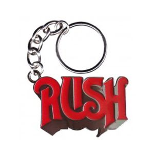 Rush Logo Metal Keychain - A heavy metal Rush Logo Metal Keychain is only appropriate to support your favorite rock band.