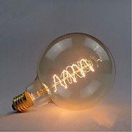 G125 vezeték körül 60W izzó Edison izzók bár gyöngy izzólámpán Edison villanykörte retro dekoráció