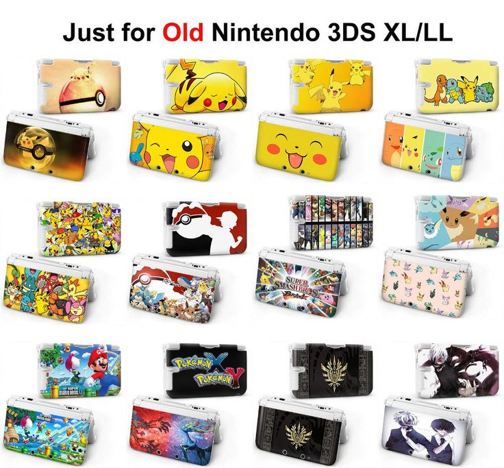 1pcs cute pokemon xy x y pikachu zelda Tokyo Ghou super mario Game Console Protective Hard Case Cover For old 3DS XL LL