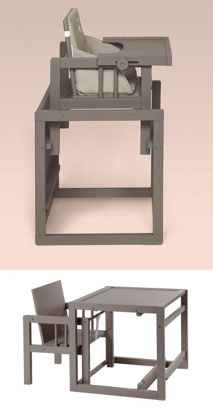 De Quax Cubic is in het begin een eetstoel maar later kan het gebruikt worden als tafel en stoel afzonderlijk door hen van elkaar te halen.