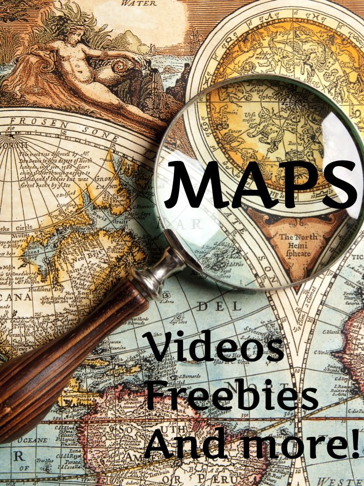 Get videos, links to games and even a great freebie map grid lesson at this site! If you are ready to study maps with your students, don't miss these resources!