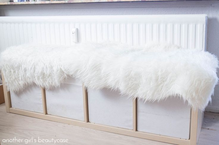 IKEA-Hack - Sitzbank aus Kallax-Regal - another girl's beautycase