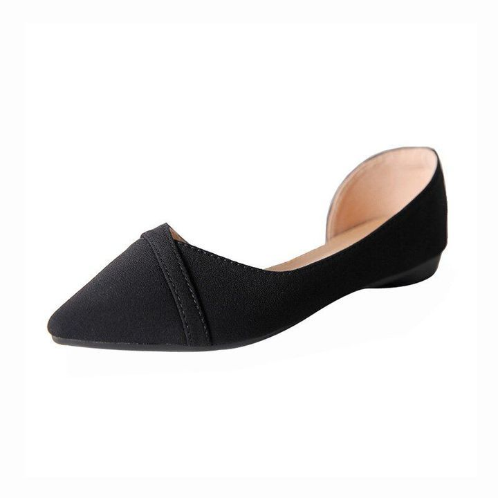 Details about  /Fashion Sweet Womens Pointy Toe Flats Lace Flower Slip on Loafers Casual Shoes