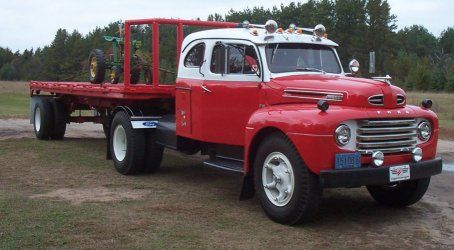 Photo: 1950 Ford F8 truck with sleeper a | 1948 - 1958 ...