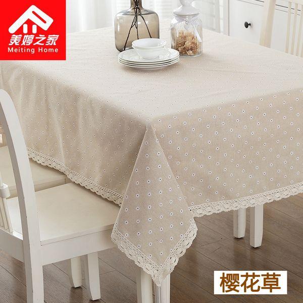 Льняные скатерти сельских маленьких свежих клетчатые ткани кружева скатерти прямоугольный журнальный столик ткань скатерти круглый стол