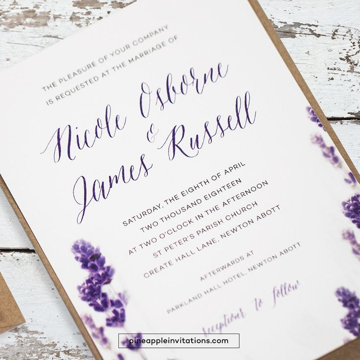 Cheap Purple Wedding Invitations Kits