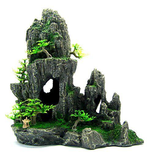 305 best images about aquariums decor rock wood on for Aquarium mountain decoration