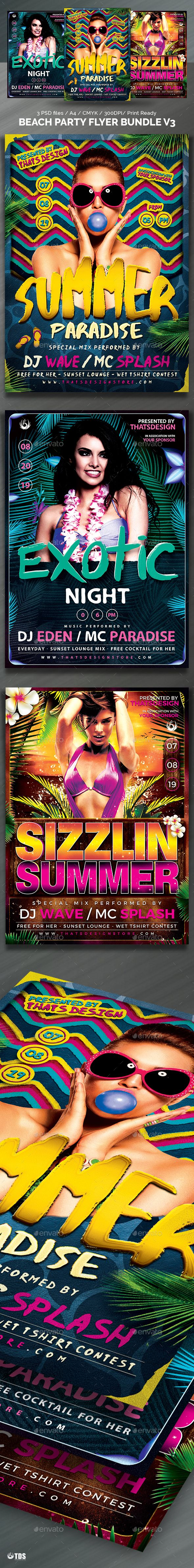 3 Beach Party Flyer PSD Templates • Only available here! → https://graphicriver.net/item/beach-party-flyer-bundle-v3/17222202?ref=pxcr