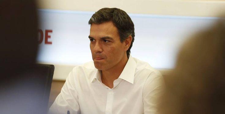 El líder del PSOE,  Pedro Sanchez, en la ejecutiva del lunes.rn