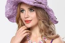 Crochet straw sun hat with bow for beach vacation ladies sun hats package