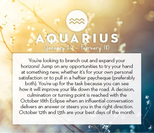 #Aquarius October #horoscope 2013