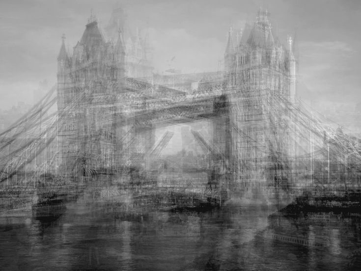 Idris Khan is a London photographer with an unusual technique of layering multiple images. His work was featured in the March 4th New york Times Magazine.